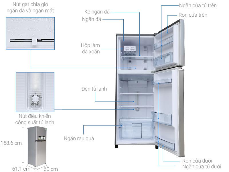 Thông số kỹ thuật Tủ lạnh Panasonic Inverter 267 lít NR-BL308PSVN