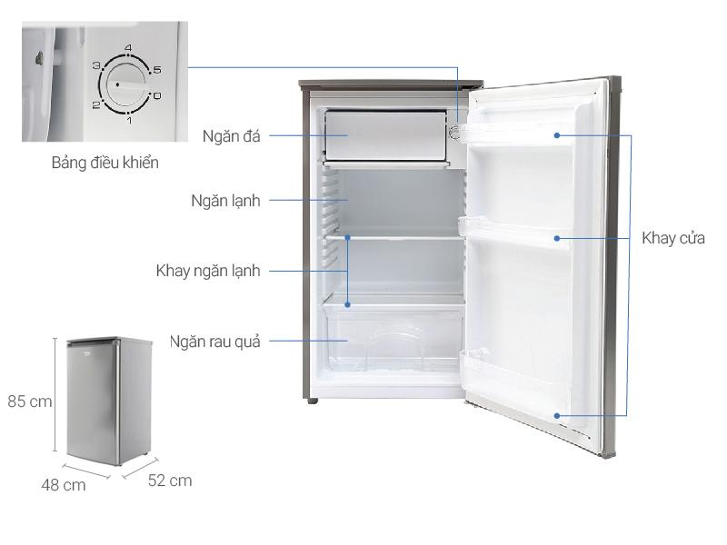 Thông số kỹ thuật Tủ lạnh Beko 90 lít RS9050P
