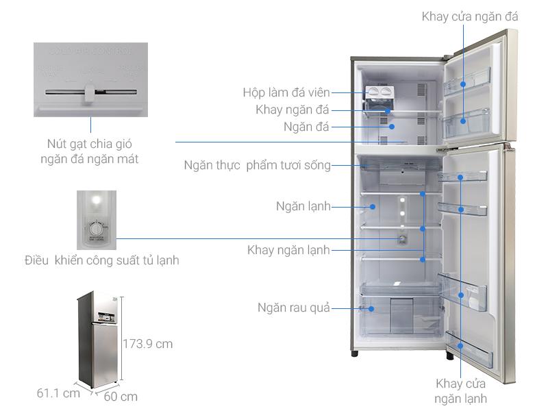 Thông số kỹ thuật Tủ lạnh Panasonic inverter 303 lít NR-BL348PSVN