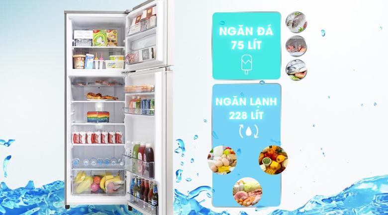 Dung tích 303 lít - Tủ lạnh Panasonic Inverter 303 lít NR-BL348PSVN