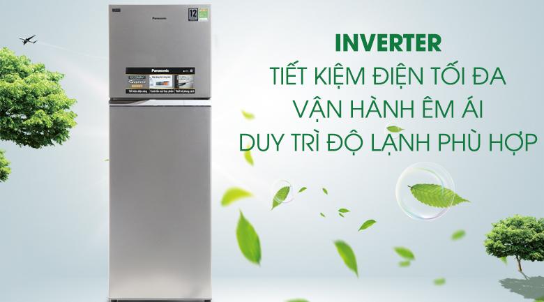 Tủ lạnh Inverter tiết kiệm điện - Tủ lạnh Panasonic Inverter 303 lít NR-BL348PSVN
