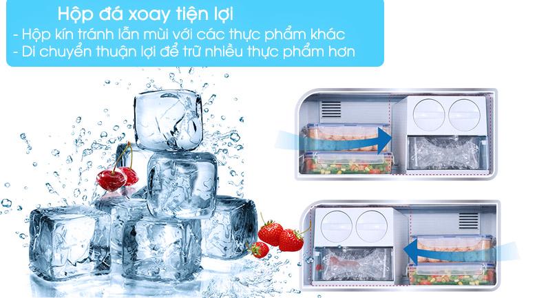 Hộp đá xoay tiện lợi, tránh lẫn mùi - Tủ lạnh Panasonic inverter 267 lít NR-BL308PKVN