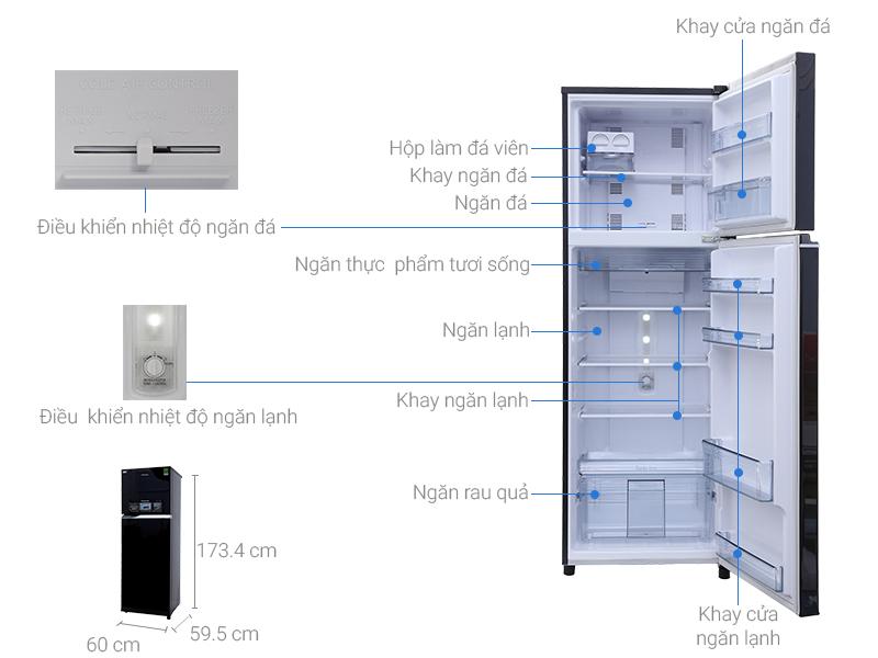 Thông số kỹ thuật Tủ lạnh Panasonic inverter 303 lít NR-BL348PKVN
