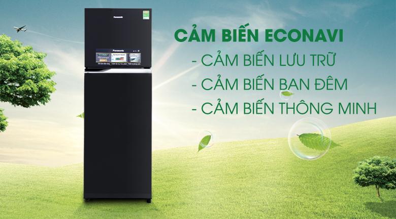 Cảm biến Econavi - Tủ lạnh Panasonic inverter 303 lít NR-BL348PKVN