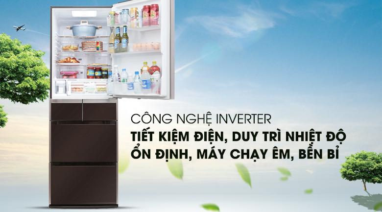 Công nghệ Inverter vận hành ổn định, bền bỉ - Tủ lạnh Hitachi Inverter 529 lít E5000V XT