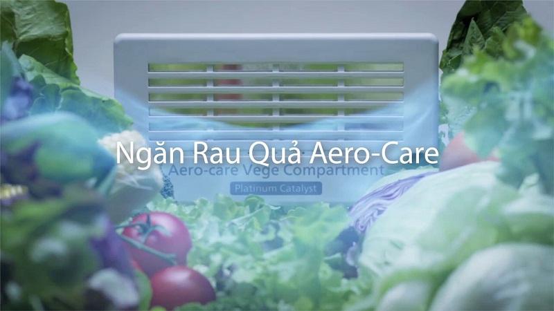 Cung cấp độ ẩm cho rau quả tươi lâu với công nghệ Aero-care hiện đại