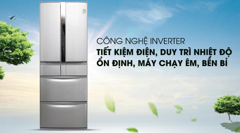 Vận hành ổn định với công nghệ Inverter - Tủ lạnh Hitachi Inverter 497 lít SF48EMV SH