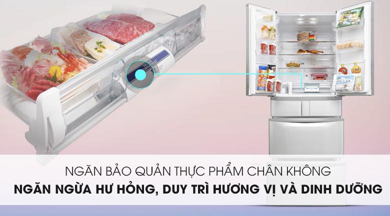 Ngăn bảo quản chân không hiện đại - Tủ lạnh Hitachi Inverter 497 lít SF48EMV SH