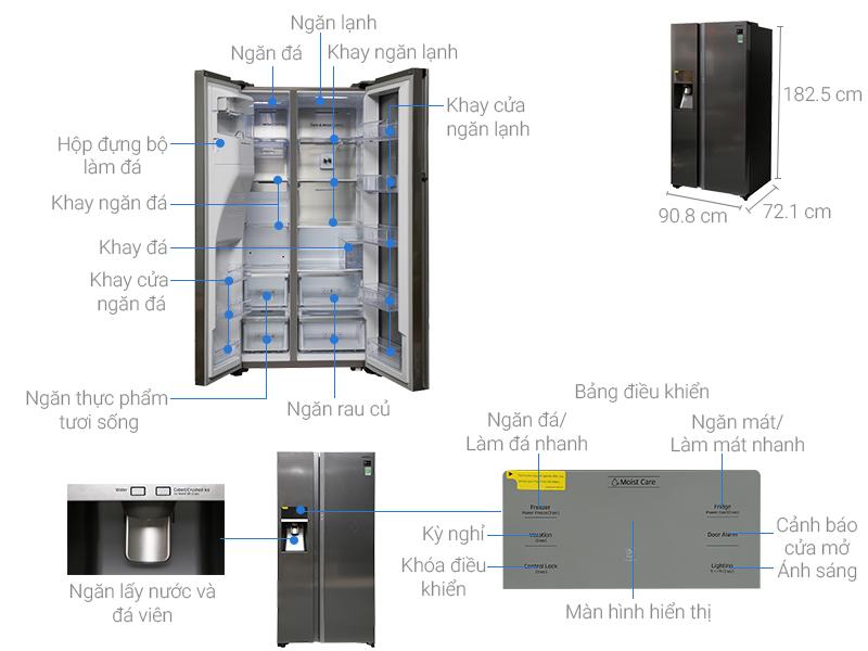 Thông số kỹ thuật Tủ lạnh Samsung Inverter 620 lít RH58K6687SL/SV
