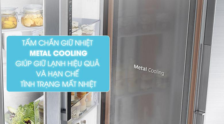 Tấm chắn Metal Cooling - Tủ lạnh Samsung Inverter 634 lít RS63R5571SL/SV