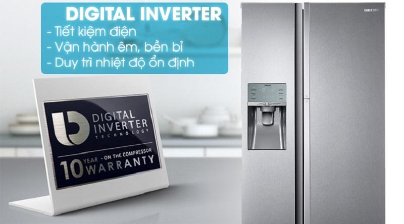 Tích hợp thêm công nghệ Digial Inverter - Tủ lạnh Samsung Inverter 620 lít RH58K6687SL/SV