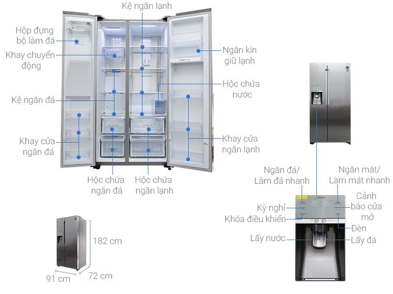 Thông số kỹ thuật Tủ lạnh Samsung Inverter 620 lít RS58K6667SL/SV