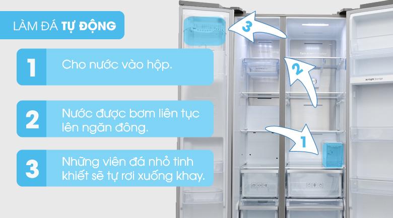 Thoải mái hơn với khả năng tự động làm đá - Tủ lạnh Samsung Inverter 620 lít RS58K6667SL/SV