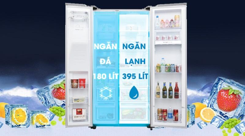 Dung tích tủ lạnh tới 620 lít - Tủ lạnh Samsung Inverter 620 lít RS58K6667SL/SV