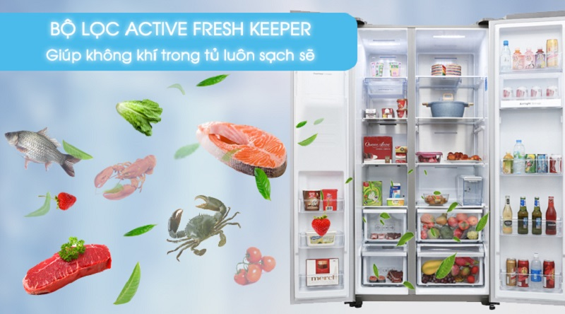 Bảo vệ sức khỏe cho bạn với bộ lọc Active Fresh Keeper - Tủ lạnh Samsung Inverter 620 lít RS58K6667SL/SV