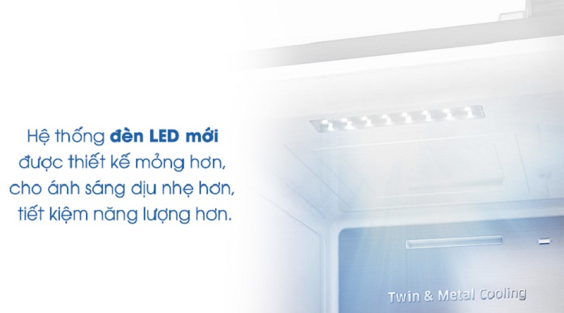 Hệ thống đèn led chiếu sáng hiện đại - Tủ lạnh Samsung Inverter 620 lít RS58K6667SL/SV