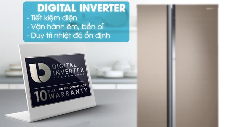 Công nghệ Inverter - Tủ lạnh Samsung Inveter 620 ít RH62K62377P/SV