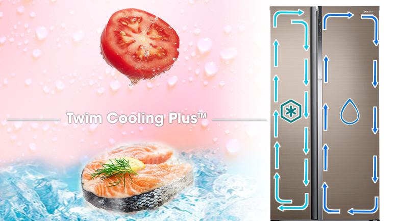 Twin Cooling Plus - Tủ lạnh Samsung Inveter 620 ít RH62K62377P/SV