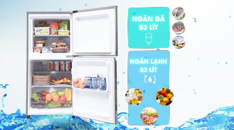 Dung tích - Tủ lạnh Panasonic 135 lít NR-BJ158SSV1