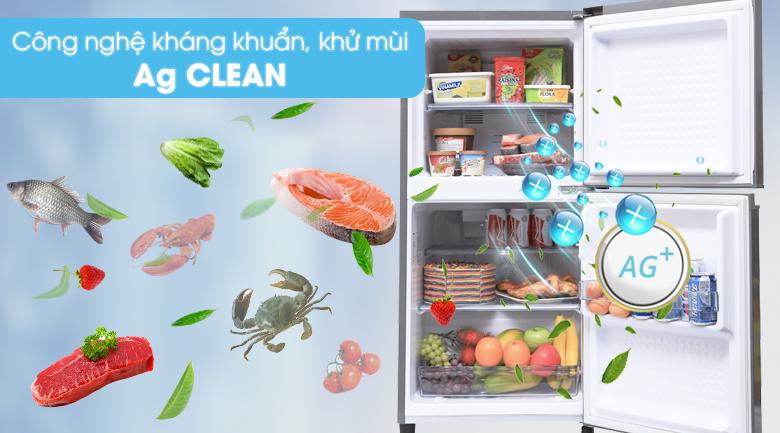 Công nghệ kháng khuẩn khử mùi Ag Clean - Tủ lạnh Panasonic 135 lít NR-BJ158SSV1