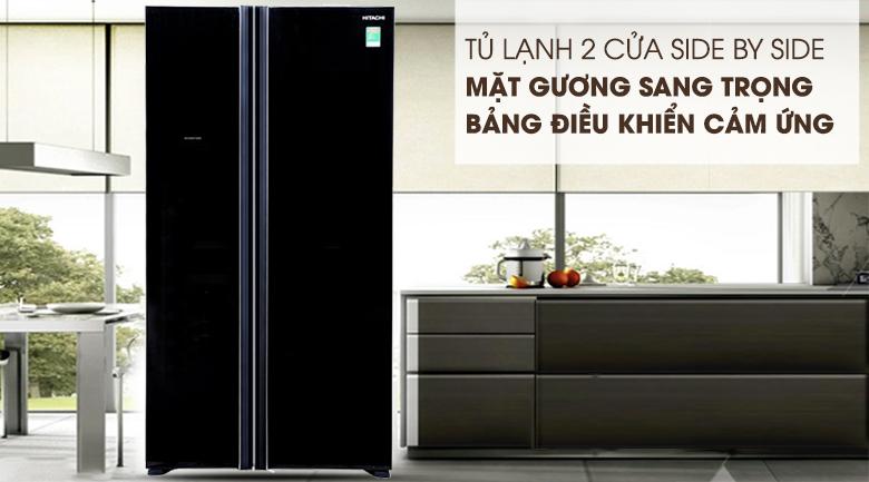 Tủ lạnh Hitachi Inverter 605 lít R-S700PGV2 GBK