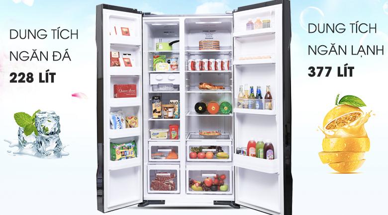 Dung tích 605 lít - Tủ lạnh Hitachi Inverter 605 lít R-S700PGV2 GBK