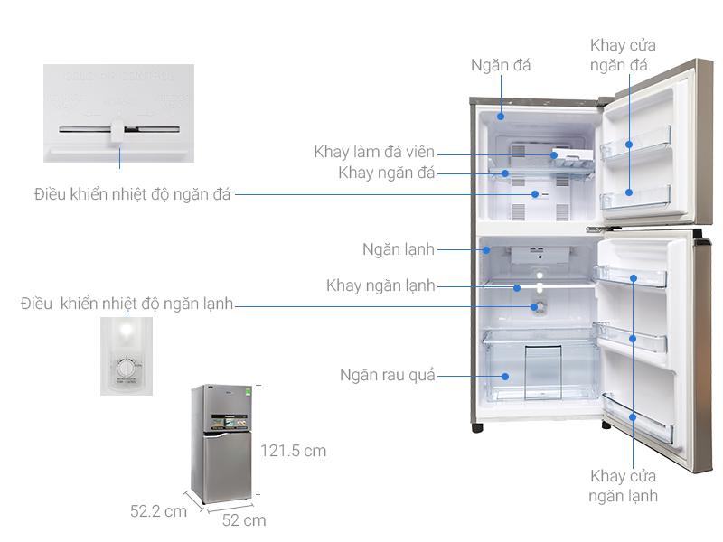 Thông số kỹ thuật Tủ lạnh Panasonic Inverter 152 lít NR-BA178PSV1