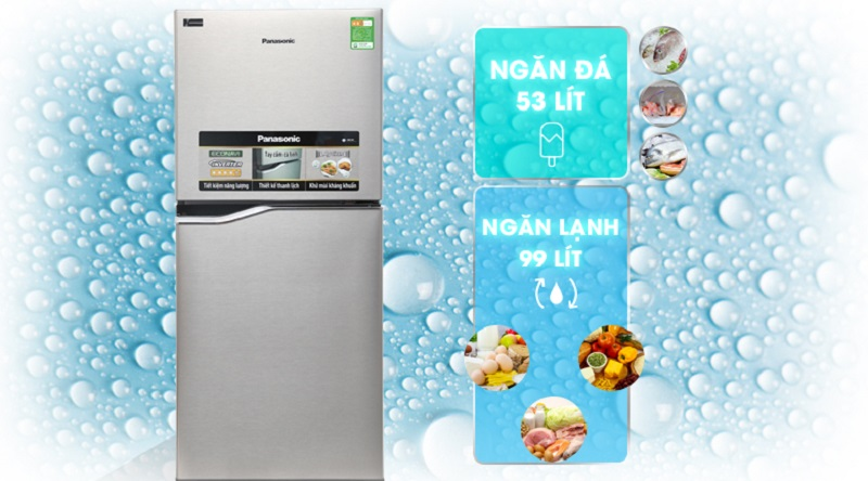Dung tích 152 lít vừa thoải mái cho bạn sử dụng - Tủ lạnh Panasonic Inverter 152 lít NR-BA178PSV1