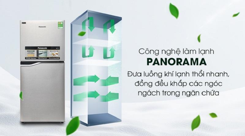 Duy trì nhiệt độ tốt hơn với hệ thống Panorama - Tủ lạnh Panasonic Inverter 152 lít NR-BA178PSV1