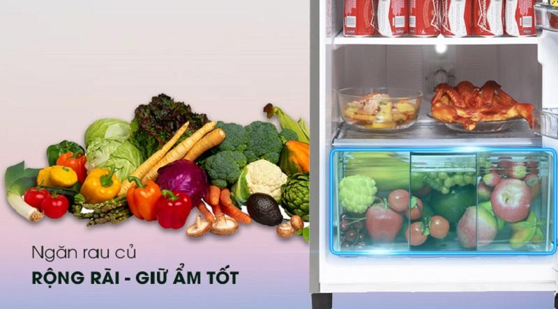 Có ngăn chuyên chứa rau củ quả - Tủ lạnh Panasonic Inverter 152 lít NR-BA178PSV1