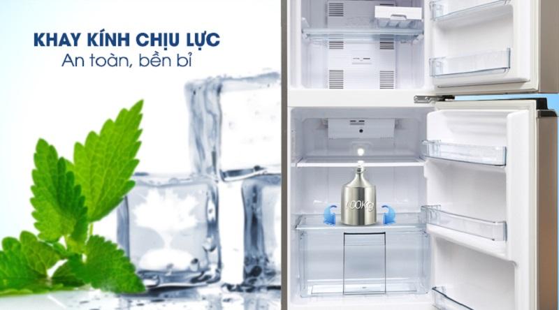 Yên tâm bảo quản thực phẩm với khay kính chịu lực tốt - Tủ lạnh Panasonic Inverter 152 lít NR-BA178PSV1