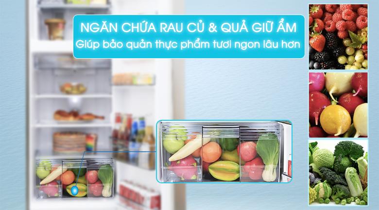Hộc rau quả giữ ẩm - Tủ lạnh Panasonic Inverter 188 lít NR-BA228PSV1