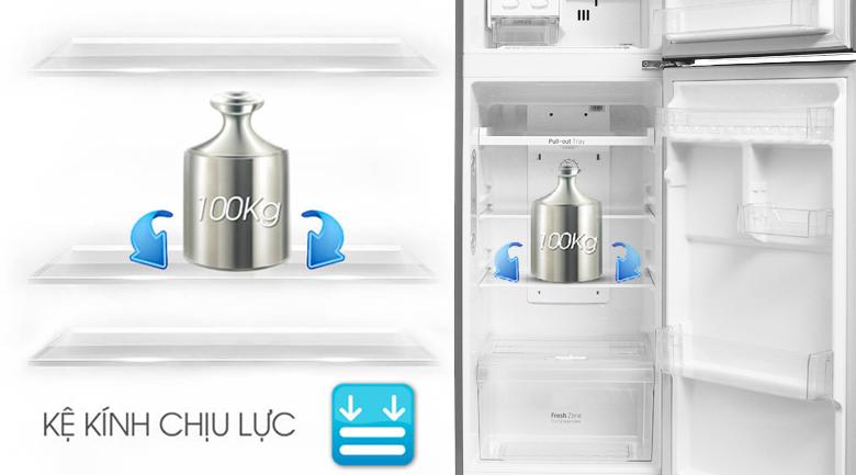 Khay kính chịu lực - Tủ lạnh LG Inverter 208 lít GN-L208PS