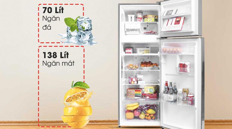 Dung tích 208 lít - Tủ lạnh LG Inverter 208 lít GN-L208PS