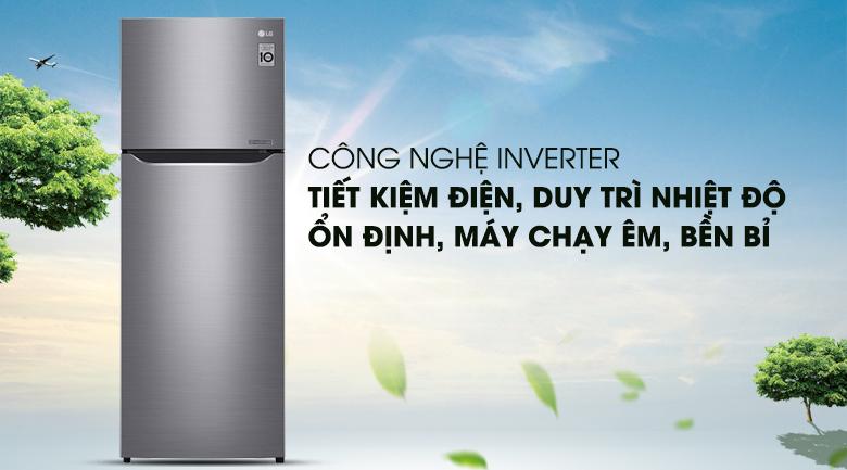 Tiết kiệm chi phí tối ưu với công nghệ Inverter - Tủ lạnh LG Inverter 208 lít GN-L208PS