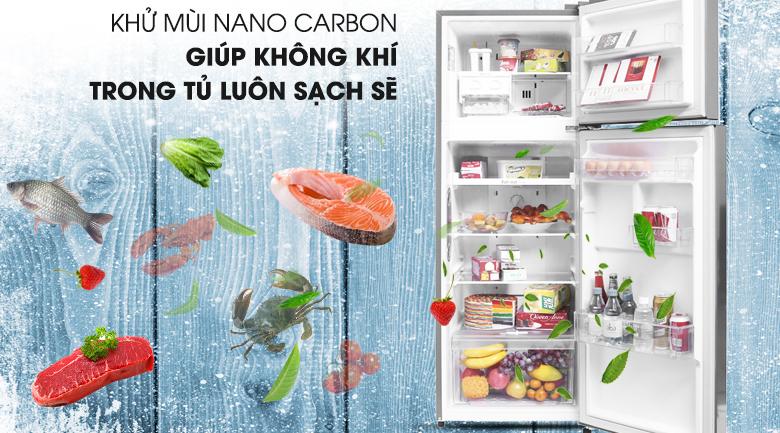 Khử mùi diệt khuẩn với Nano Carbon - Tủ lạnh LG Inverter 208 lít GN-L208PS