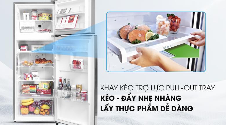 Khay kệ linh hoạt hơn - Tủ lạnh LG Inverter 208 lít GN-L208PS