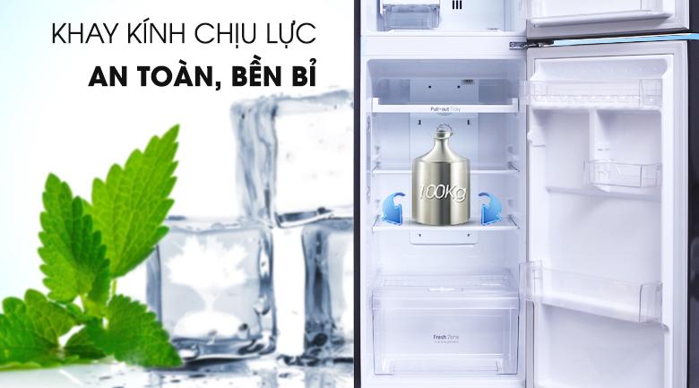 Khay kính chịu lực bền bỉ - Tủ lạnh LG Inverter 208 lít GN-L208PN