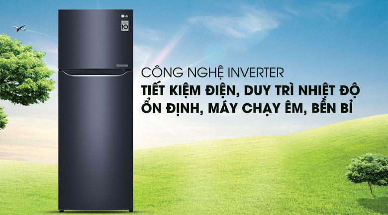 Công nghệ Inverter tiết kiệm năng lượng hiệu quả - Tủ lạnh LG Inverter 208 lít GN-L208PN