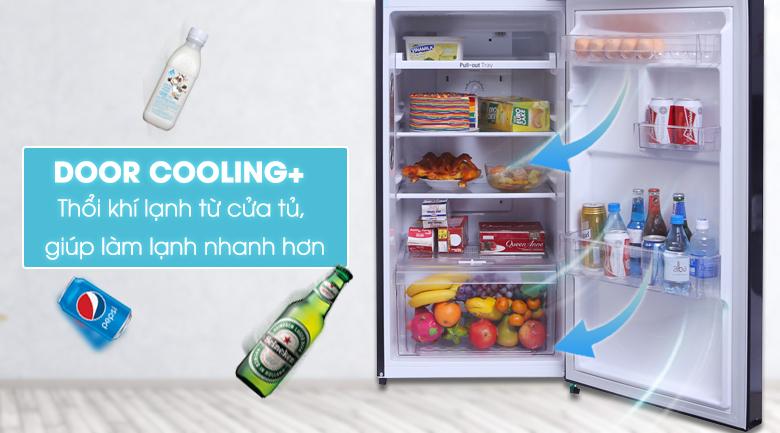 Công nghệ Door Cooling+ làm lạnh tốt hơn cho thực phẩm ở cửa tủ