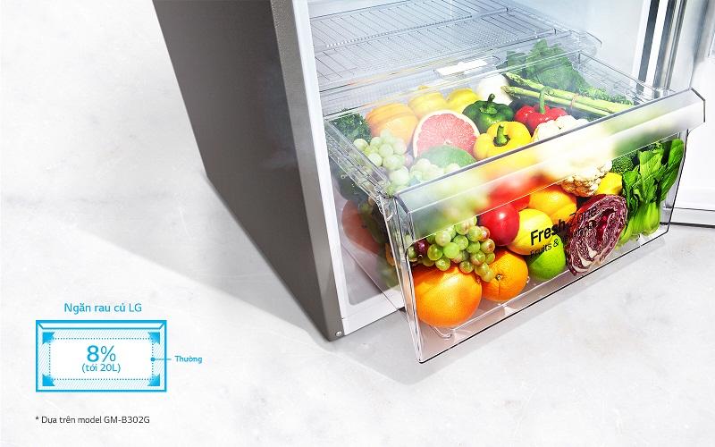 Bảo quản rau quả tốt hơn với ngăn cân bằng độ ẩm