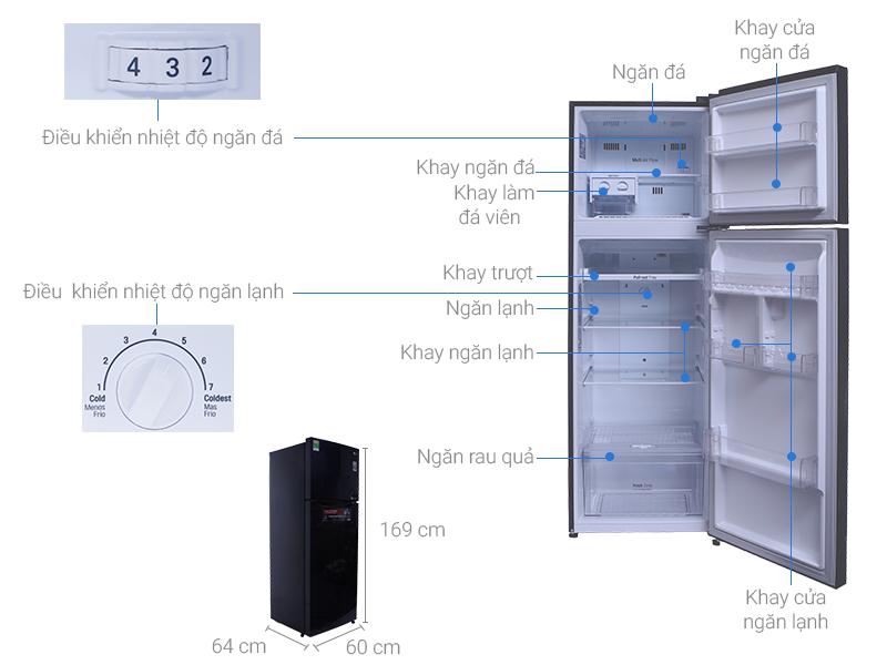 Thông số kỹ thuật Tủ lạnh LG Inverter 315 lít GN-L315PS