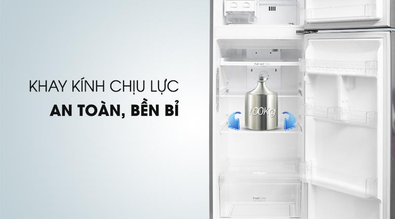 Khay chứa chịu lực an toàn bền bỉ - Tủ lạnh LG Inverter 315 lít GN-L315PS