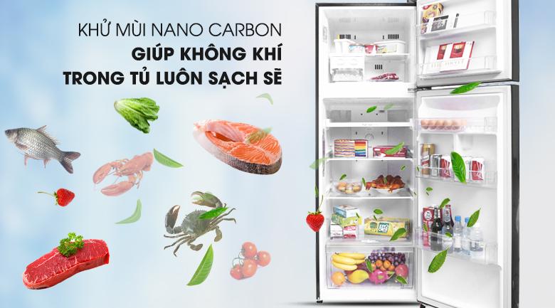Bảo vệ sức khỏe với bộ lọc Nano Cacbon - Tủ lạnh LG Inverter 315 lít GN-L315PN