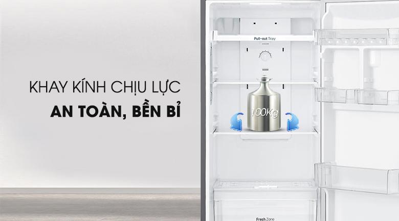 Khay chứa chịu lực tốt - Tủ lạnh LG Inverter 255 lít GN-L255PS