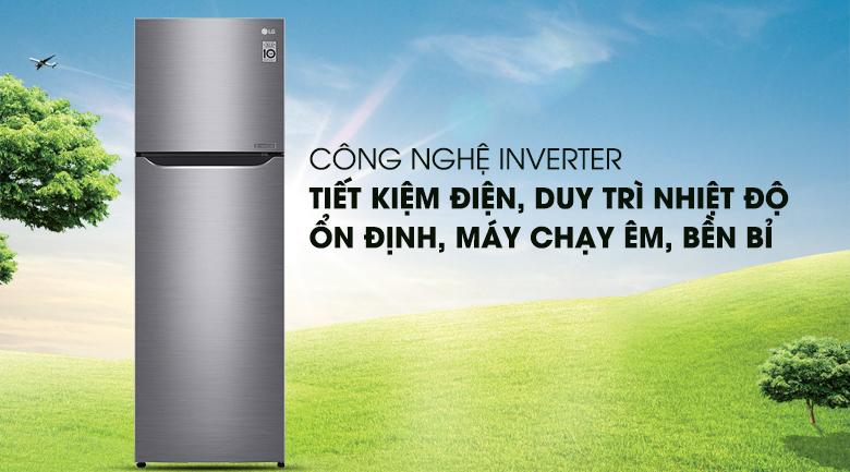 Công nghệ Inverter tiết kiệm điện năng tối ưu - Tủ lạnh LG Inverter 255 lít GN-L255PS