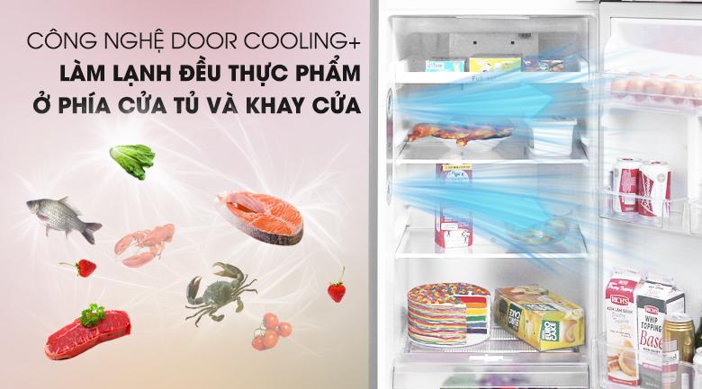 Công nghệ Door Cooling+ ổn định nhiệt độ trong tủ - Tủ lạnh LG Inverter 255 lít GN-L255PS