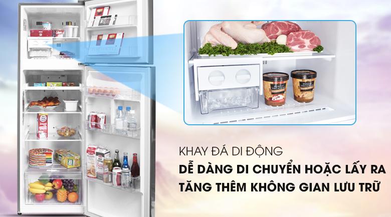 Khay đá di động, tạo thêm không gian - Tủ lạnh LG Inverter 255 lít GN-L255PS