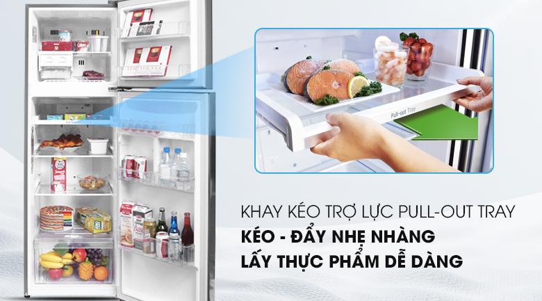 Ngăn kệ linh hoạt, tiện dụng - Tủ lạnh LG Inverter 255 lít GN-L255PS