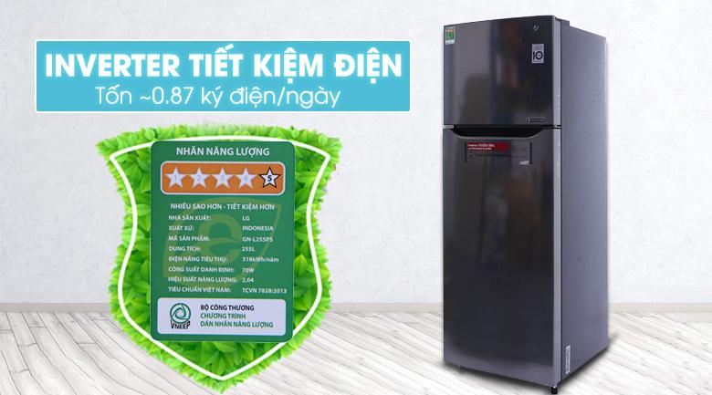 Tủ lạnh LG Inverter 255 lít GN-L255PS hình 2